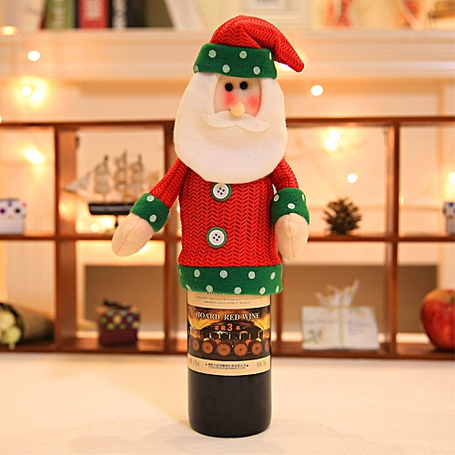 Christmas Wine Bottle Cover Kitchen Bar Decoration - Multi-B