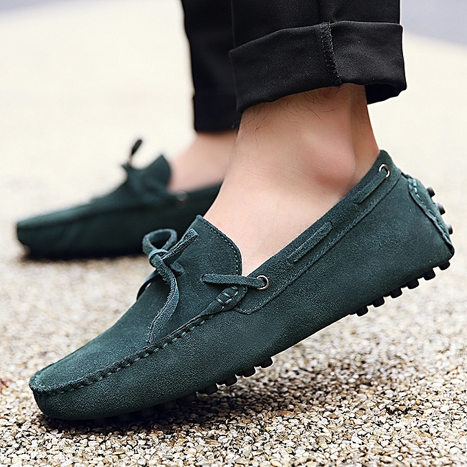99aa2e8f64d EUR Size 38-49 Cow Suede Leather Men Flats Shoes New Men Casual Shoes High