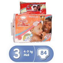 Diapers, Size 3, Jumbo Pack (84 Count) + Free Wipes (40 Count)