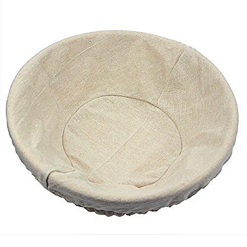 12 Inch Round Banneton Cane Bowl Natural Rattan Basket