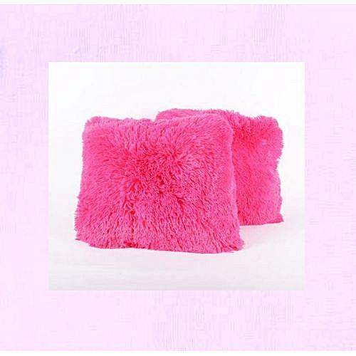Fur Throw Pillows 2pcs