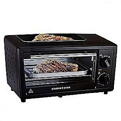 11L Oven, Baking + Toasting +Grilling With Top Grill