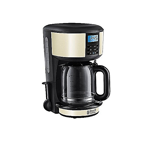 Legacy Coffee Maker- 1.25 Ltrs - Exquisite Coffee Brewing Machine - With Upgraded Showerhead Technology, Permanent Filter For Improved Temperature And Coffee Extraction - By Russell Hobbs, UK