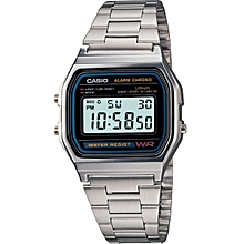 691422af61b8 A158WA-1DF Men  039 s Digital Alarm Watch - Silver