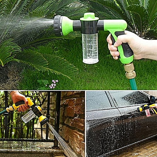 ( Colour:green)Multifunctional Foam Washing Car Sprayer Nozzle Bubble Garden Sprayer Fertilization Pet Cleaning Tool