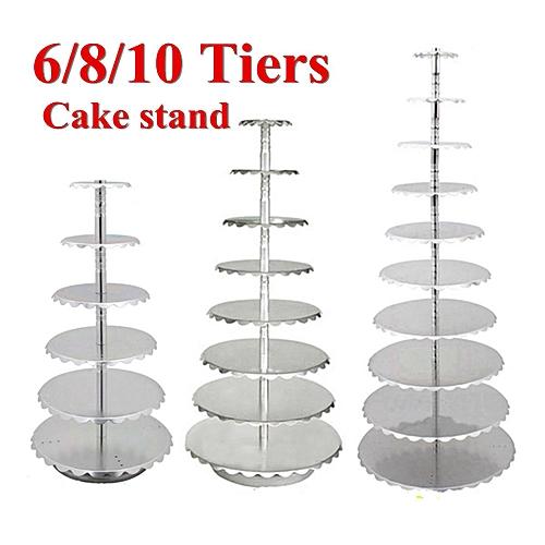 6/8/10 Tier Metal Cake Holder Cupcake Stand Birthday Wedding Tower Display Decor