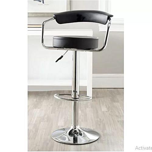 Adjustable Height Swivel Metal Bar Stool