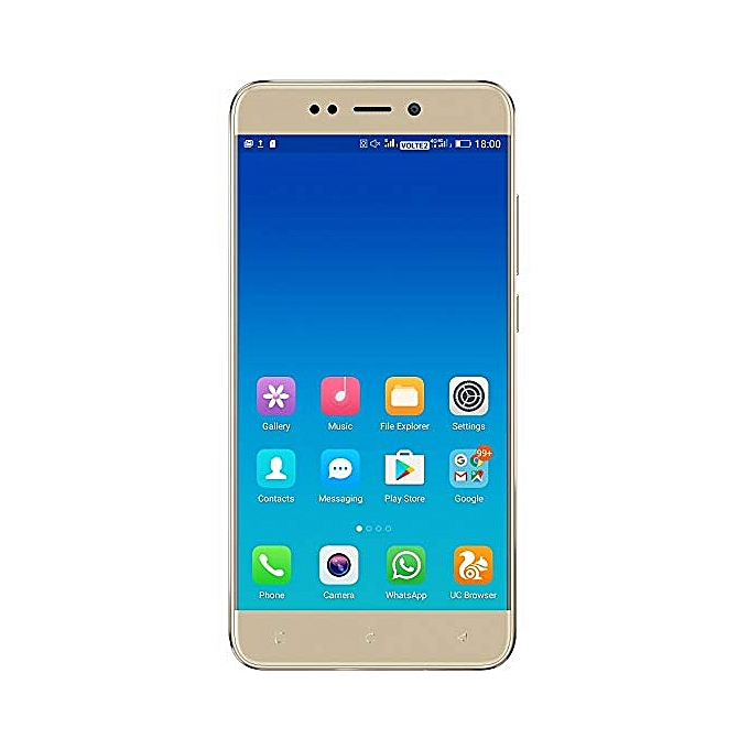 WX3 LTE 5-Inch (1GB, 8GB ROM) Android 7.0 Nougat, 5MP + 5MP 4G Smartphone - Gold