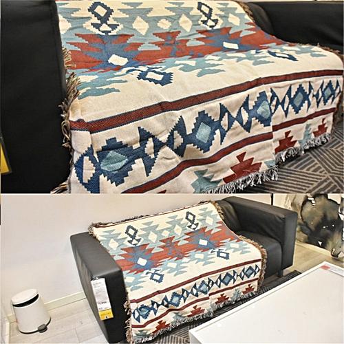 Bohemian Tribal Ethnic Geometric Aztec Navajo Blanket Throw Rugs Sofa Couch UK