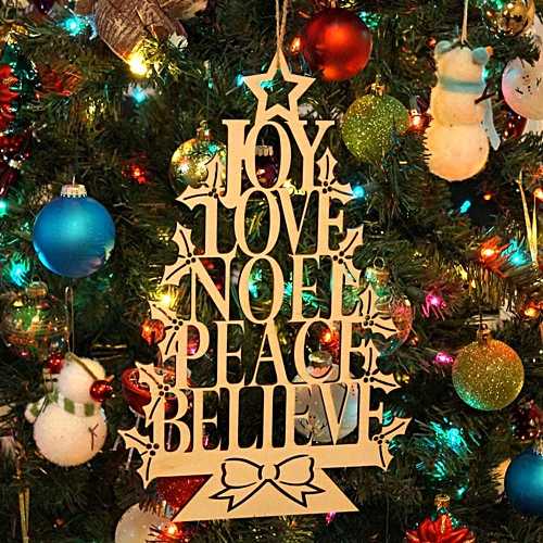 DIY Creative Wooden Hanging Decoration Christmas Tree Door Beer Bottle Hanging Wood Board