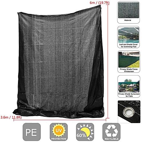 12ftx20ft 60% Polyethylene Sunblock Shade Cloth For Plant Cover Greenhouse Barn