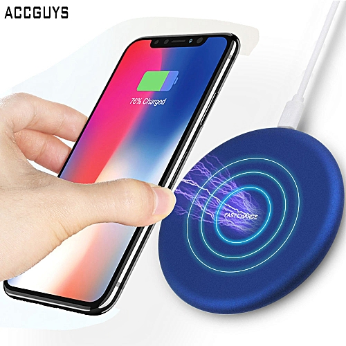 10W Qi Wireless Charger For IPhone X/XS Max XR 8 8 Plus Visible Fast Wireless Charging Pad For Samsung S8 S9/S9+ Note 9 8-Blue