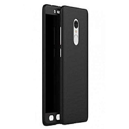 Tecno L9 Plus (360 Degree Full Protection Case + Tempered Glass) - Black