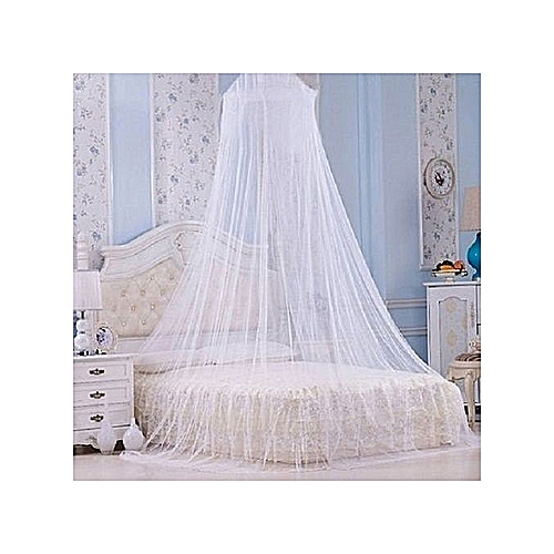 Mosquito Net - Circular Canopy Net With Ring - White***