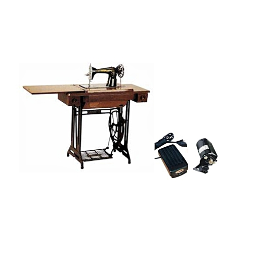 Butterfly Sewing Machine Plus An Electric Motor - Black