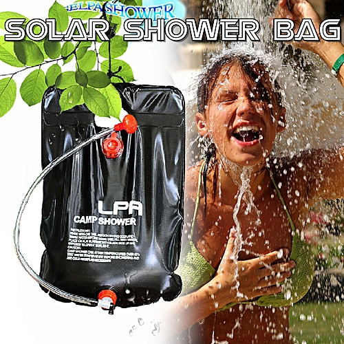 Portable Outdoor Camping Shower Bag Solar Heated Shower Bathing Picnic Water Bag Water Storage For Travel Hiking BBQ