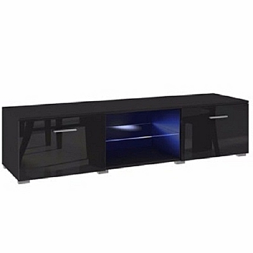 LED TV Stand - Gloss Black 5ft(DELIVERY WITHIN LAGOS ONLY)