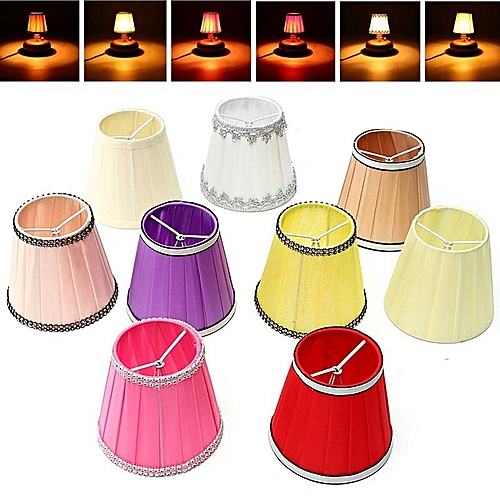 Fabric Chandelier Lampshade Holder Clip On Sconce Beside Bed Lamp Hanging Light