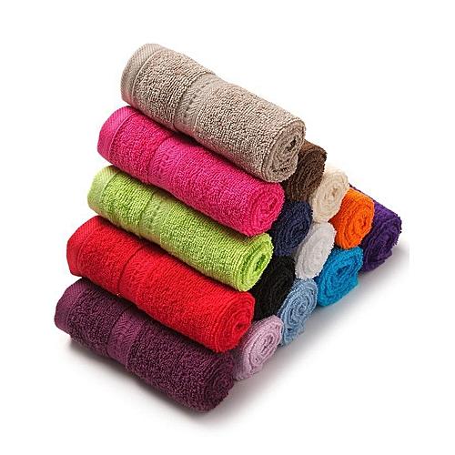 Launi Colorful Face Towels Pack Of 15 - Multicolour