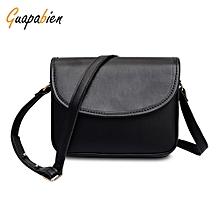Women PU Leather Versatile Girls Shoulder Crossbody Bag-BLACK 1bcd5e426a
