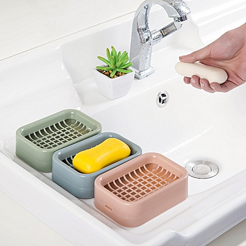 DIHE Nordic Style Double Deck Soapbox Lechate Board Shower Soap Dispenser 1PC
