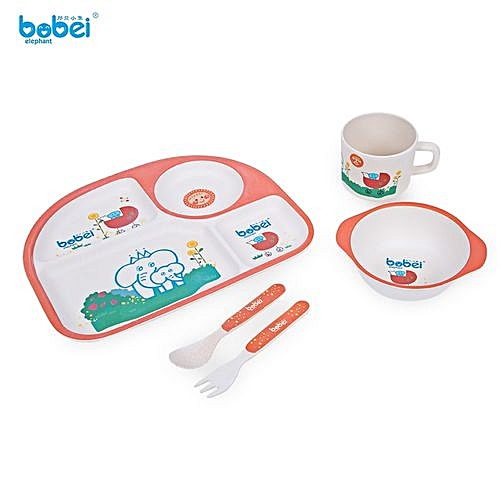 Fashion 5Pcs Gift Box Children Tableware Set - Orange