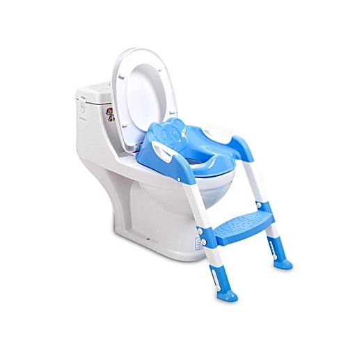 Folding Baby Potty Training Toilet Chair With Adjustable Ladder