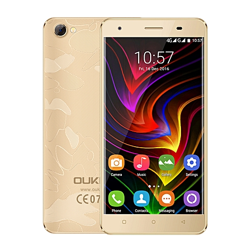 "OUKITEL C5 Pro 5.0"" Screen,1.3GHz WCDMA & GSM & FDD-LTE Android 6.0 Cell Phone(Gold)"