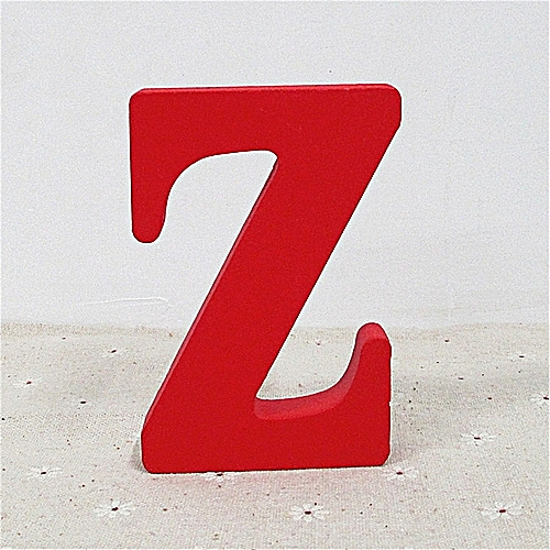 Wood Wooden A-&-Z Letters Red Alphabet Wedding Birthday Party Home Decorations