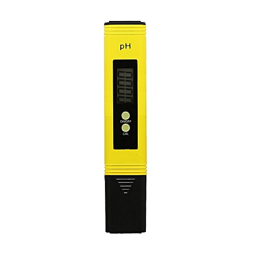PH Meter Pen With Test Paper Creative Plastic Yellow Gadgets LCD Digital Tester Household Automatic