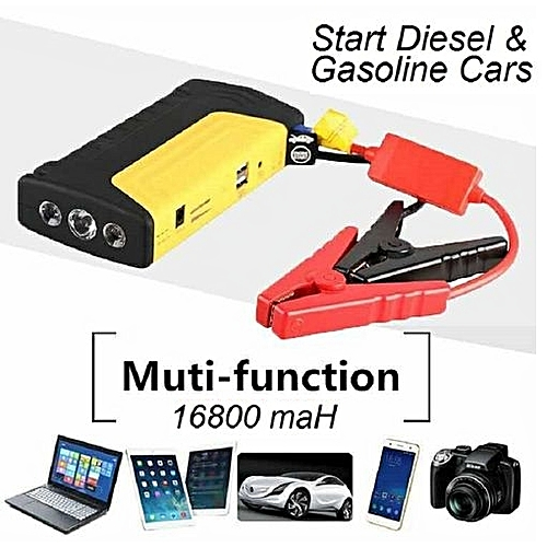 JUMP STARTER KIT And POWER BANK For Laptop & Mobile Devices - Emergency Car Battery 16800mAH 12V ULTRASAFE LITHIUM - Torch Light- MULTI FUNCTIONAL - HIGH BOOST PLUS