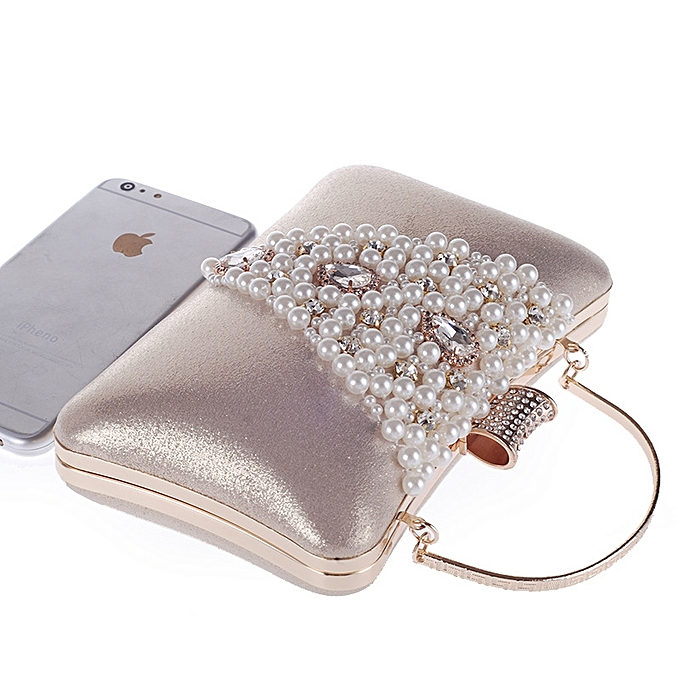 a02a652054 ... Popular Shorts & Leggings Hot Sale Cocktail Party Women Elegant Silver Pearl  Evening Party Bag Clutch