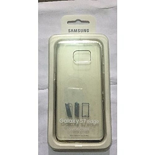 online store 2222b 711f1 Samsung Galaxy S7 Edge Clear Back Cover - Silver