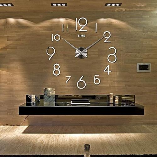 Wall Clock Living Room DIY 3D Home Decoration Mirror Large Art Design SL
