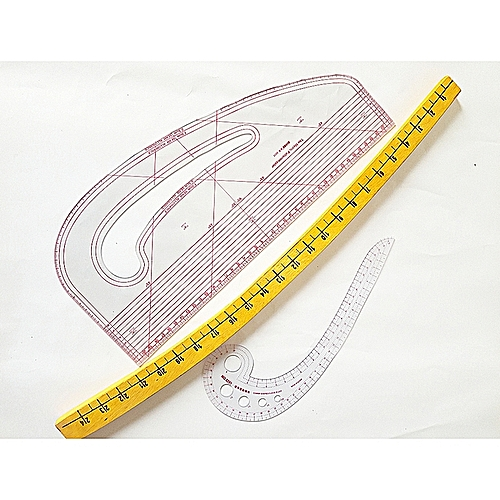 A Set Of Pattern Master Hip Curve And Arm Hole Curve