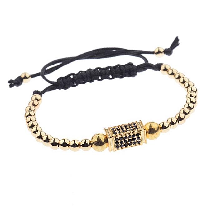 DOUVEI Pave CZ Ball Charm Bracelet
