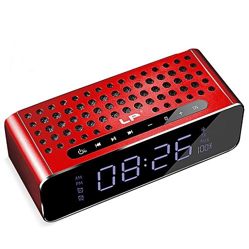 LP AUX Bluetooth Wireless Mini Dual Speakers LED HD Large Mirror Screen Digital Alarm Clocks