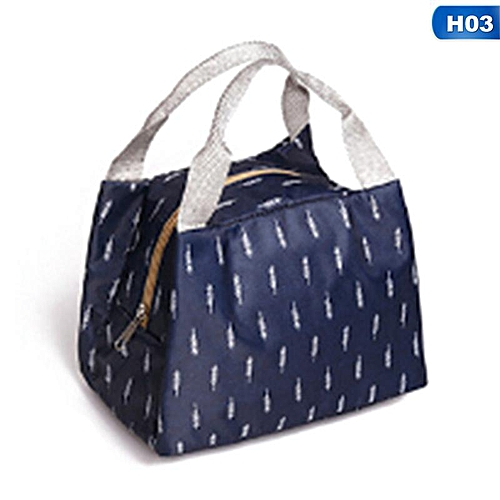 Eleganya Simple Exquisite Printing Portable Thicken Insulation Lunch Bag