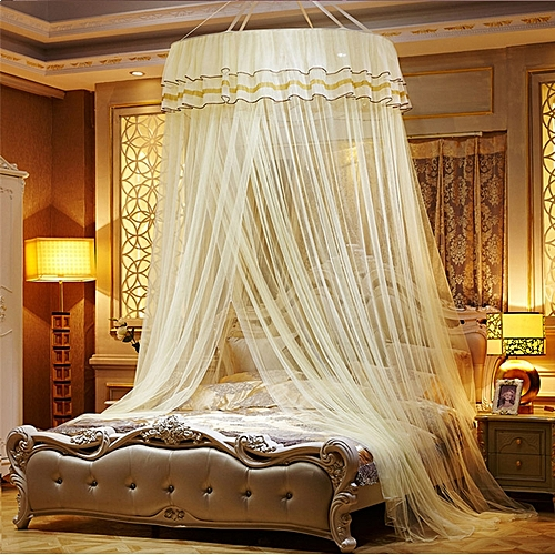 Universal Mosquito Net Fly Insect Protection Bed Outdoor Canopy Netting Curtain Dom Yellow
