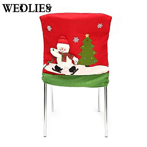 3D Christmas Chair Covers Dinner Table Santa Snowman Party Decoration Ornaments