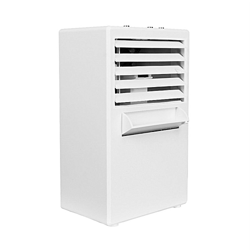 Crazy Shop Mini Air Conditioning Fan Low Noise Home Cooler Digital Cooling System-white