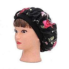 Women Fahion Night Sleep Hat Wide Band Hair Loss Chemo Hat Comfortable  Satin Bonnet Ladies Turban 0343b8208b4