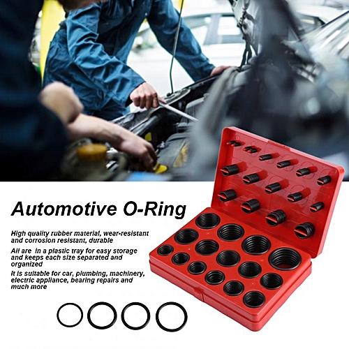 347Pcs Universal Assorted O-Ring Assortment Set Metric Kit Automotive Seal Rubber Gasket