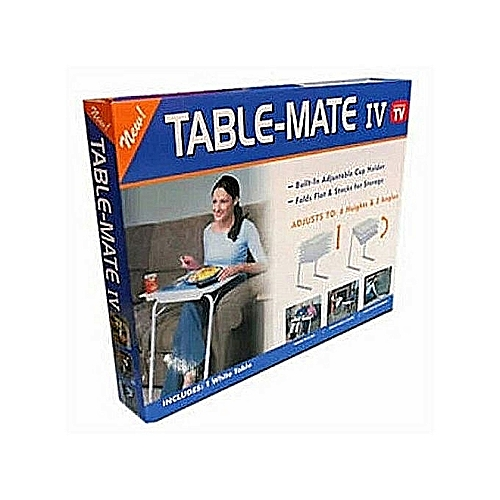 Table Mate Adjustable IV Table That Slide To You With Cup Holder