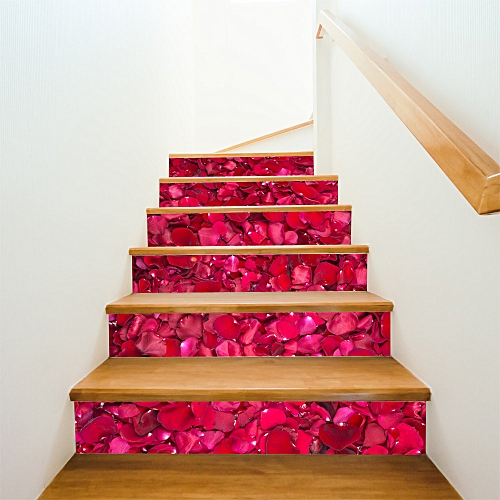 Lodaon Valentine's Day DIY Removable Stair Sticker Home Decor Ceramic Tiles Patterns