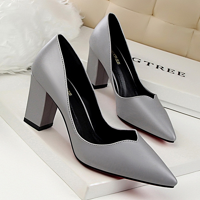 3ecee4113b1249 High-Heeled Shoes Thin Heels Woman Pumps Suede Women Shoes Pointed Toe High  Heels Closed