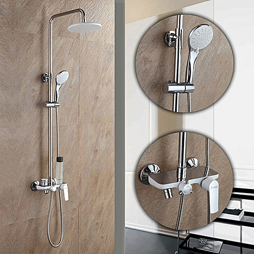 FRAP F2431 Bathroom Wall Mounted Round Spray Rainfall Top Shower With Handheld Shower Head =