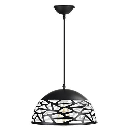 Fixture Ceiling Lamp Retro Industrial Iron Vintage Pendant Light Deco Chandelier Black/White