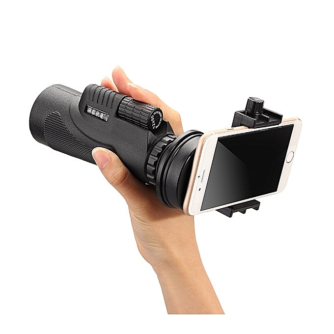50x Zoom HD Optical Monocular Telescope Lens Mobile Phone Camera +Tripod - Black