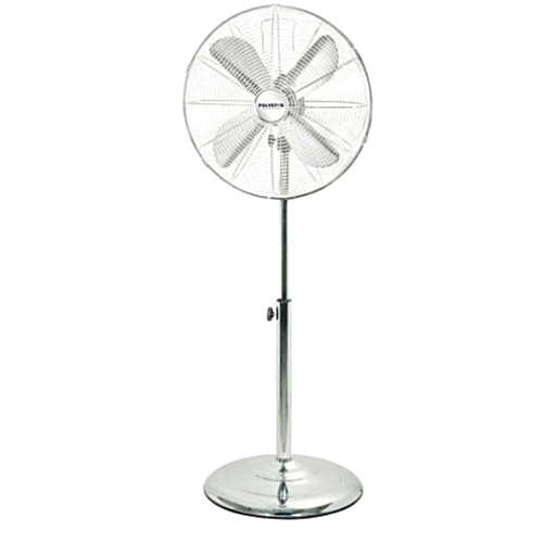 """Polystar 16"""" Standing Fan Antique Metal With Stainless Colour"""